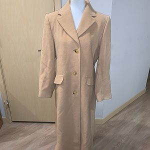 NWOT Bromley Collection Camelhair PeaCoat